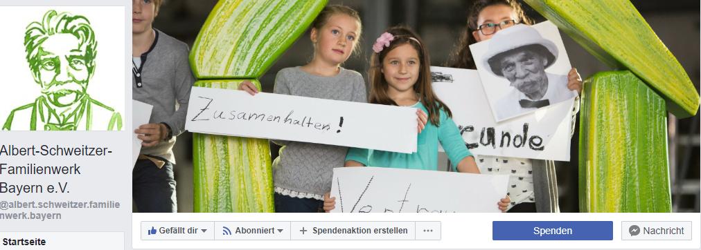Facebook Seite - Albert Schweitzer Familienwerk Bayern e.V.